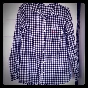 Old Navy classic button down shirt black & white